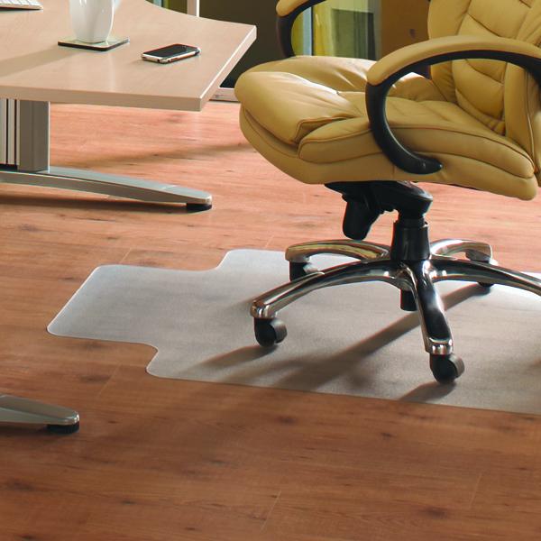 Cleartex PVC Chair Mat Hard Floor Lipped 1200x900mm Clear 1299225LV