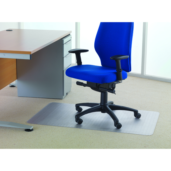 Cleartex Chair Mat Carpet 1200x750mm Clear
