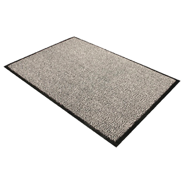 Image for Floortex Black and White Doortex Dust Control Door Mat 600x900mm 46090DCBWV