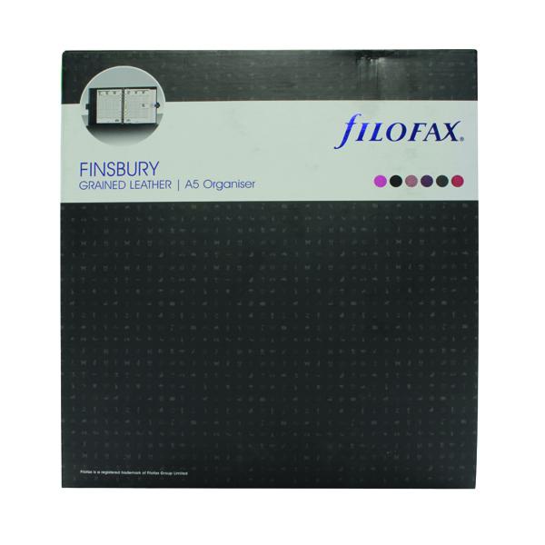 Filofax Finsbury A5 Black Organiser 025368