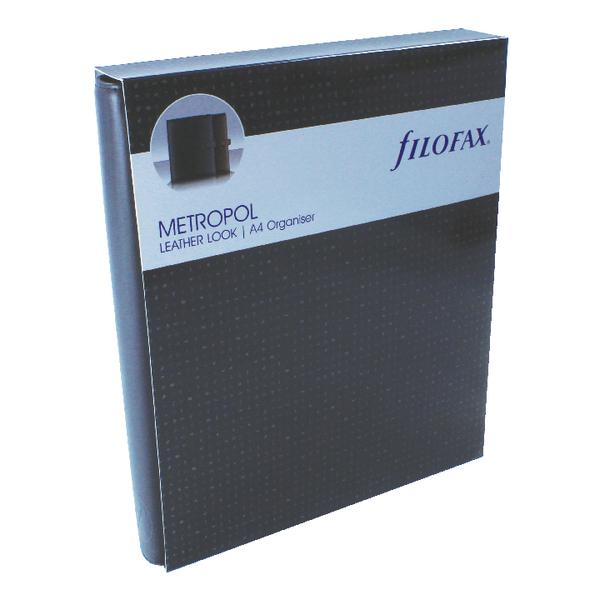 Filofax Metropol A4 Organiser Black 026921