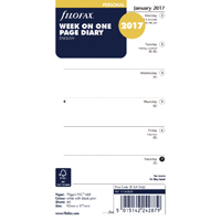 Image for Filofax Personal 2 Weeks to View 2017 Refill  17-68426 (1)