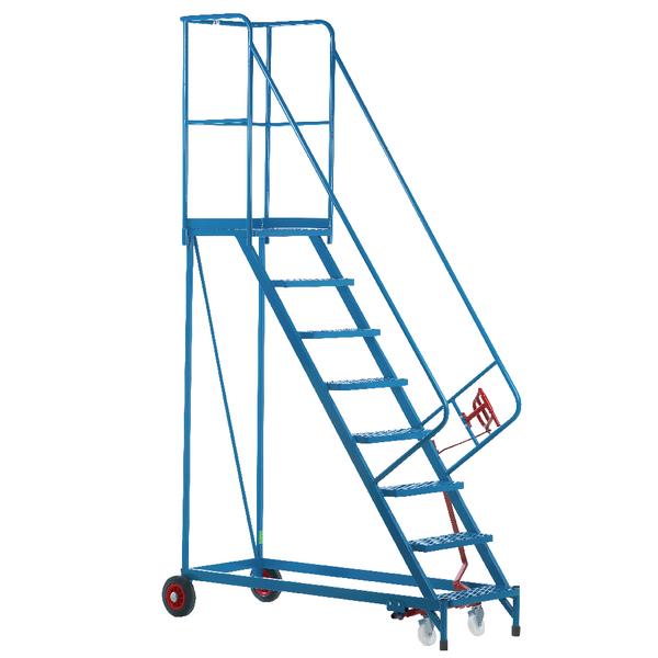 Fort Heavy Duty Mobile Steps 8 Steel Treads MS9808M