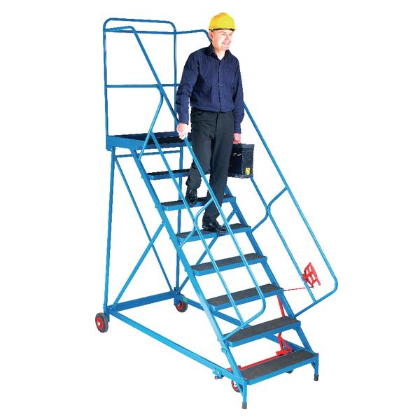 Fort Trojan Wide Tread Mobile Steps Easy Slope 8 Phenolic Treads GS1108R