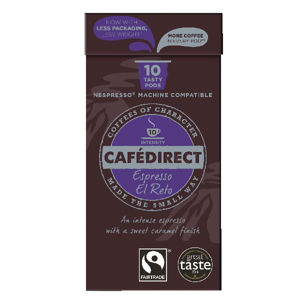 Cafedirect Nespresso Compatible Pods El Reto (Pack of 100) FCR0037