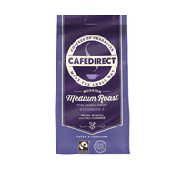 Cafedirect Medium Roast 750g with FOC 8 Cup Cafetiere (Pack of 1)