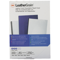 Acco GBC Binding Cover A5 White Pack of 100 4400015