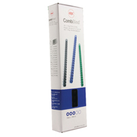 GBC Black CombBind 6mm Binding Combs (Pack of 100) 4028173