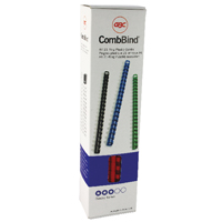 GBC Red CombBind 8mm Binding Combs (100 Pack) 4028214