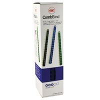 Acco GBC Binding Comb 10mm A4 21-Ring Blue Pack of 100 4028235