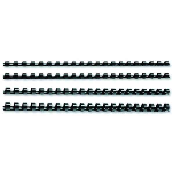 GBC Black CombBind 19mm Binding Combs (100 Pack) 4028601