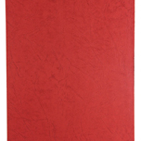 Acco GBC A4 Binding Covers 250gsm Textured Leathergrain Plain Red Pack of 100 CE040030