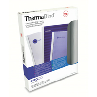 GBC 1.5mm Standard Thermal Binding Cover A4 White (25 Pack) 45445U