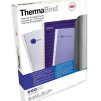 Acco GBC A4 Thermal Binding Cover 3mm 200gsm PVC/Gloss Back Clear/White Pack of 25 45440