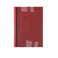 Acco GBC A4 Thermal Binding Cover 1.5mm 250gsm PVC/Leathergrain Back Clear/Red Pack 100 IB451201