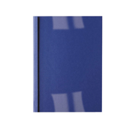 GBC Clear/Blue Leather Thermal Binding Covers 6mm (100 Pack) 451034U