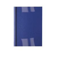 Acco GBC A4 Thermal Binding Cover 6mm 250gsm PVC/Leathergrain Back Clear/Royal Pack 100 IB451034