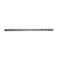 GBC Black ClickBind A4 8mm Binding Spines (50 Pack) 388019E