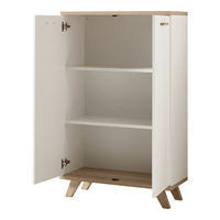 Germania Oslo Low 3 Shelf Cupboard White/Oak (Pack of 1)