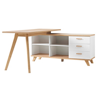 Germania Oslo Desk And Storage Unit 1400mm (Pack of 1) Oak/White