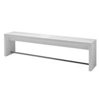 Germania Caracas Rectangular Breakout Bench 1300mm White (Pack of 1)