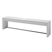 Germania Caracas Rectangular Breakout Bench 1700mm White (Pack of 1)