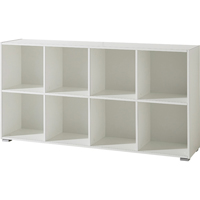 Germania Montreal Low Bookcase 1420mm White (Pack of 1)