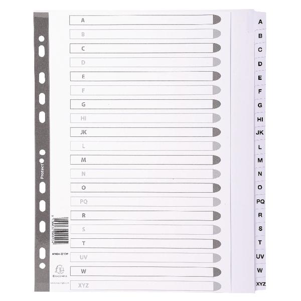 Guildhall Mylar Index A-Z A4 White MWDA-ZZ