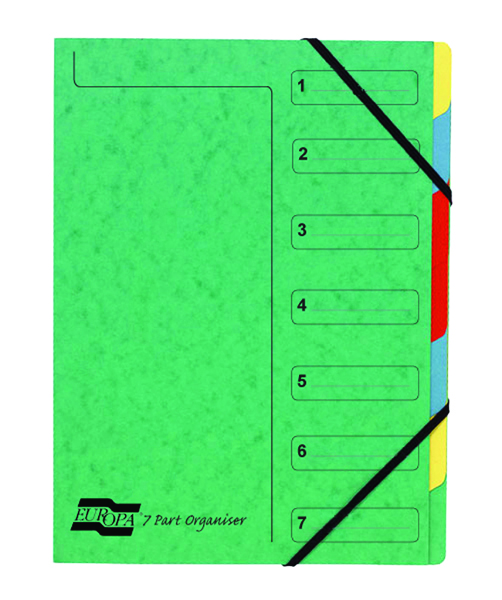 Europa 7 Part A4 Green Organiser 5220Z
