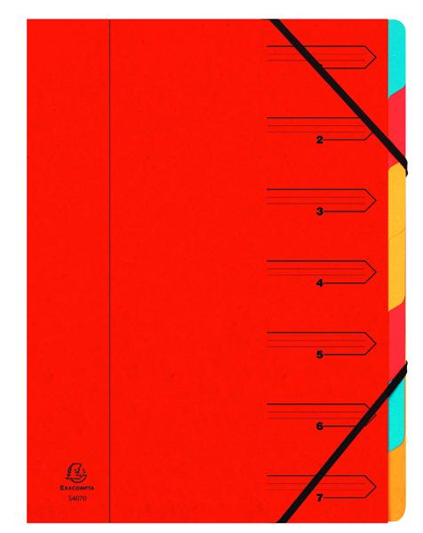 Europa 7 Part A4 Red Organiser 5221Z