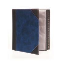Image for Goldline Blue Business Card Binder 9 Pocket A4 DBCB9/BL