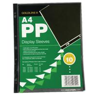 Image for Goldline Polypropylene A4 Display Sleeve (10 Pack) PDSA4Z