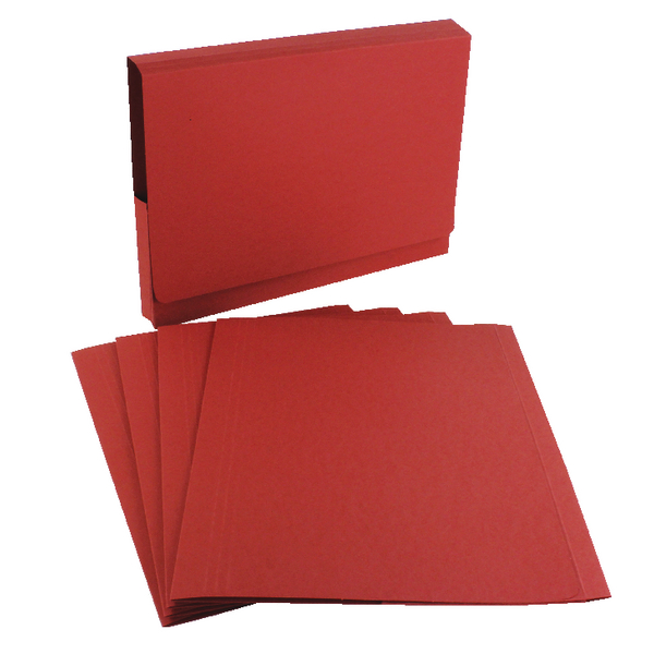 Guildhall Red Square Cut Folder (100 Pack) FS315-RED