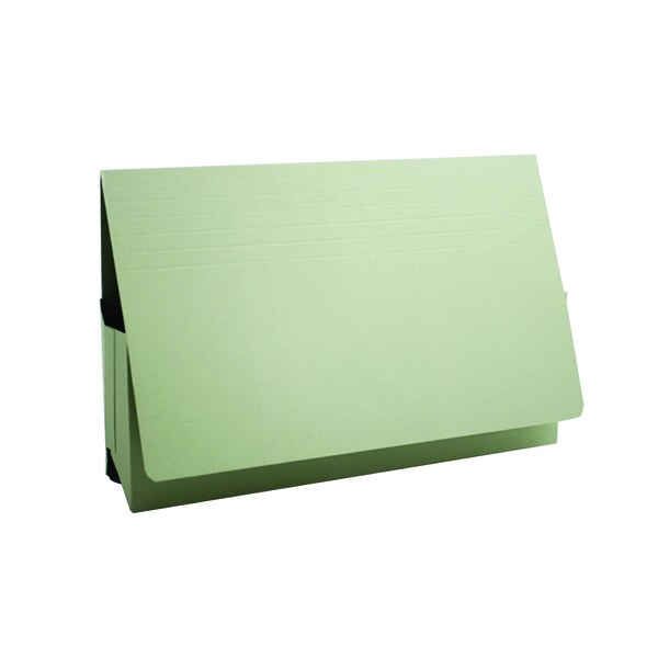 Guildhall Green Probate Document Wallet Pack of 25 PRW2-GRN