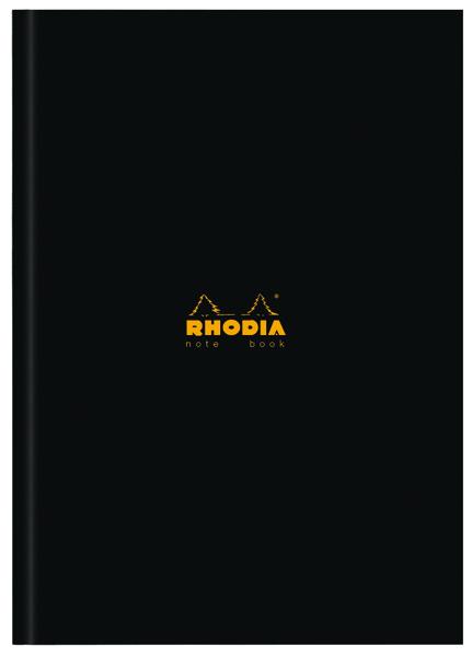 Rhodia Business Book A4 Casebound Hardback 192 Pages Black (3 Pack) 119230C