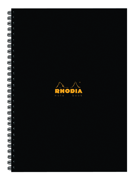 Rhodia Business A4 Book Wirebound Hardback 160 Pages Black (Pack of 3) 119232C