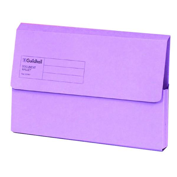 Guildhall Foolscap Violet Document Wallet Pack of 50 GDW1-VLT