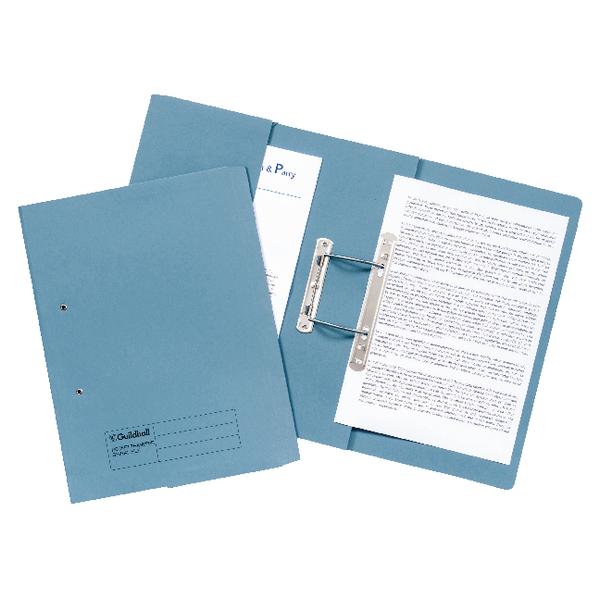 Guildhall Blue Foolscap Pocket Spiral File Pack of 25 349-BLU