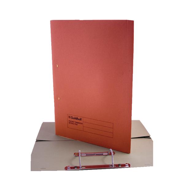 Guildhall Orange Foolscap Pocket Spiral File Pack of 25 349-ORG