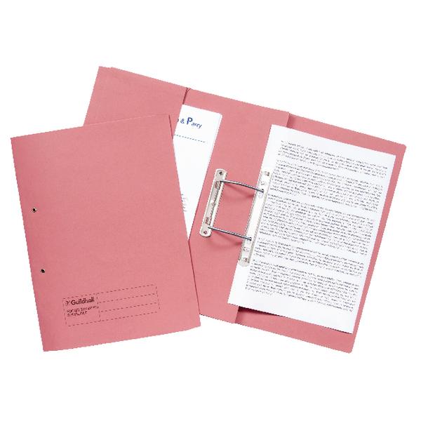 Guildhall Pink Foolscap Pocket Spiral File Pack of 25 349-PNK