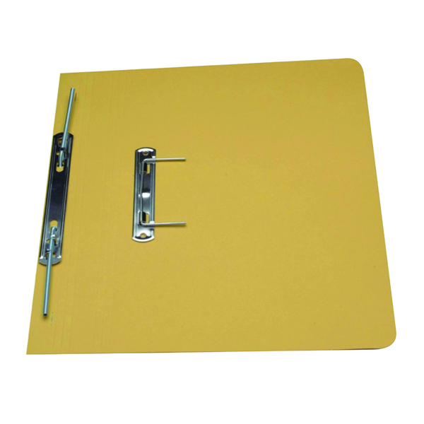 Guildhall Yellow Foolscap Heavyweight Spiral File (Pack of 25) 211/7003