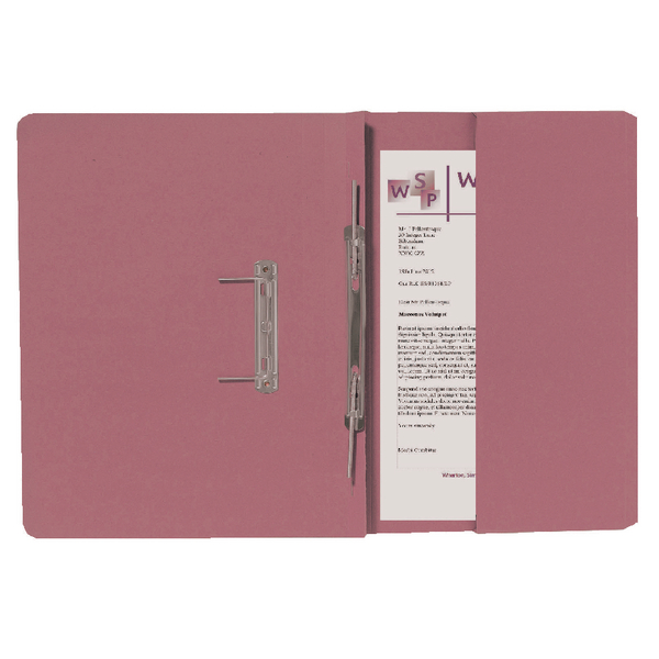 Guildhall Pink Foolscap Right Hand Pocket Spiral File (25 Pack) 211/9064Z
