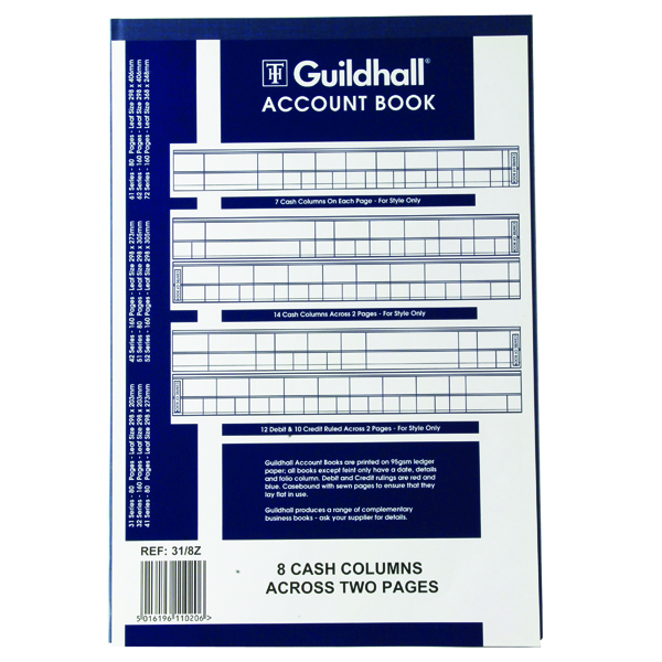 Guildhall Account Book 80 Pages 8 Cash Columns 31/8 1020