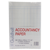 Guildhall Accountancy Paper 14 Cash Columns (Pack of 240) 39/14