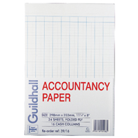 Guildhall Accountancy Paper 16 Cash Columns (Pack of 240) 39/16