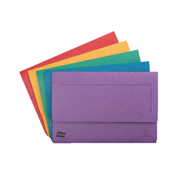 Europa Pocket Document Wallet Foolscap Assorted (Pack of 25) 4790