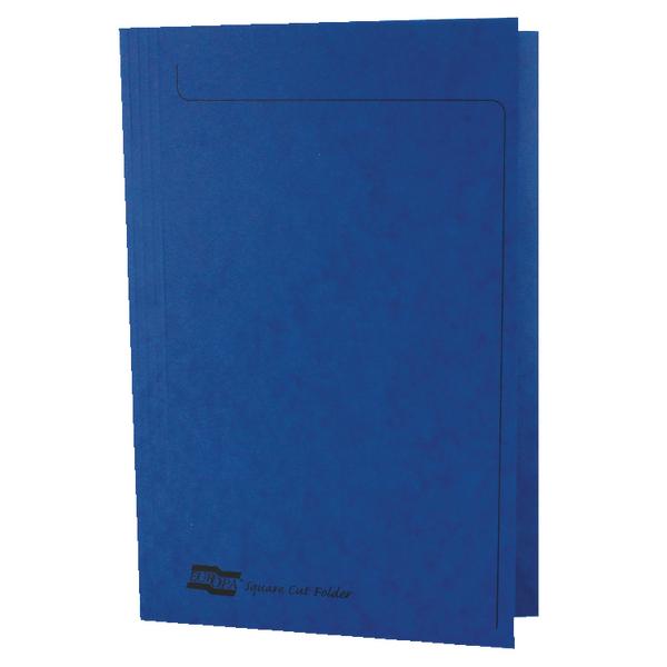Europa Foolscap Blue Square Cut Folder (Pack of 50) 4825