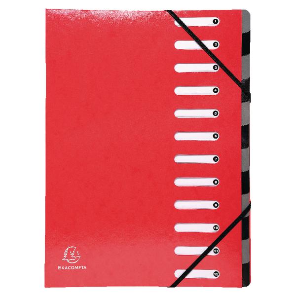 Exacompta Iderama 12 Part File Red 53925E