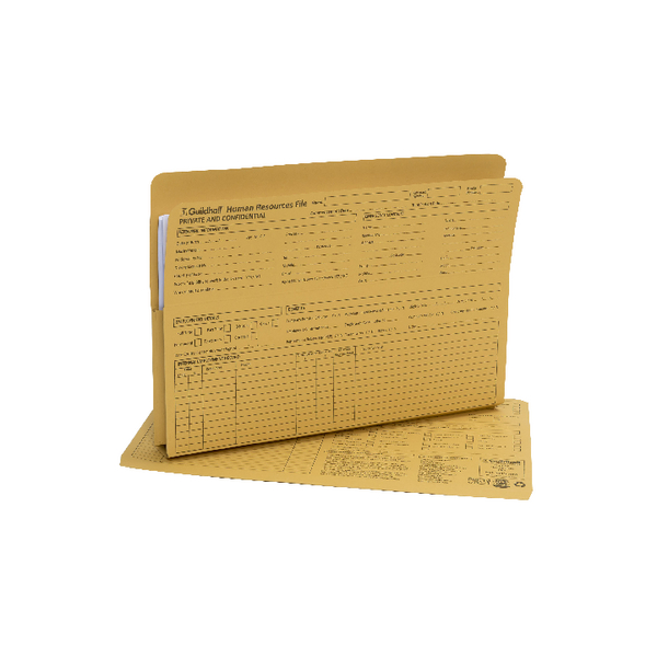 Guildhall Pre-Printed HR File Yellow (Pack of 50) 211/1300Z