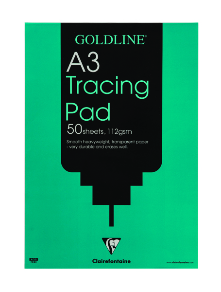 Goldline A3 Heavyweight Tracing Pad 112gsm 50 Sheets GPT3A3